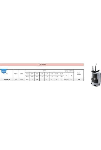 Impo Q750B122 Gizli Flatörlü Dalgıç Pompası - 750 Watt