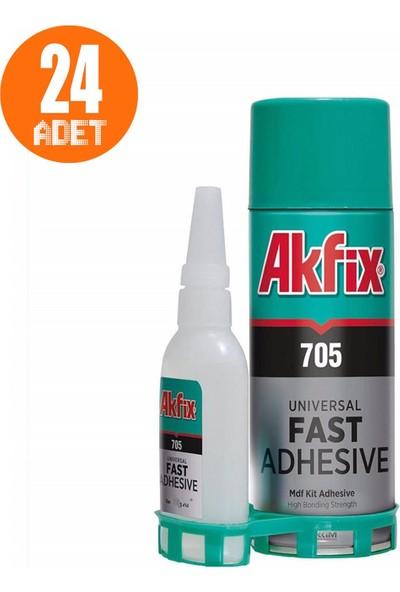 Akfix 705 Profesyonel Hızlı Yapıştırıcı Japon 400 ml 100 gr 24 Adet