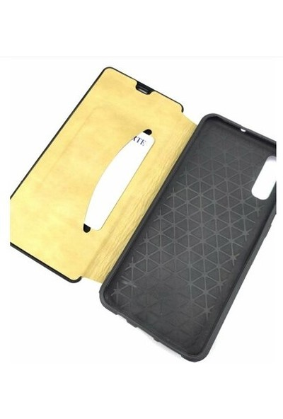 Pars Samsung A70 Kapaklı Cüzdan Kılıf Kart Bölmeli Gold (Sarı)