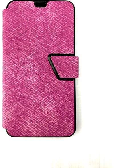 Pars Samsung A70 Kapaklı Kopça Kilit Cüzdan Para / Kart Bölmeli Kılıf Mor