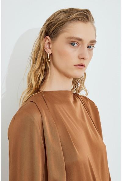 Birelin Drape Saten Bluz
