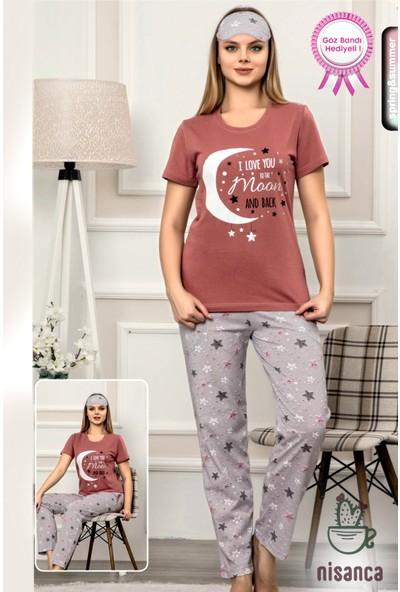 Manolya Birinci Kalite Yüzdeyüz Pamuk Kısa Kollu Mevsimlik Bayan Pijama