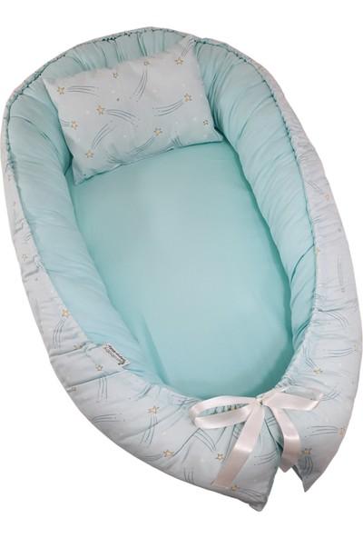 Bera Baby Berababy Maxi Mint Yıldızlı Babynest Bebek Yuvası