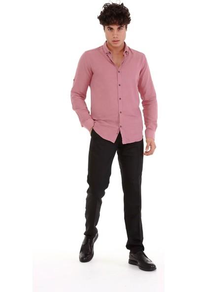 Trender 03 Poliviskon Slim Erkek Klasik Pantolon Siyah