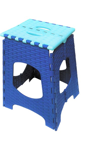 Romanoset Plastik Maxi Rattan Katlanır Tabure 2 Li Set