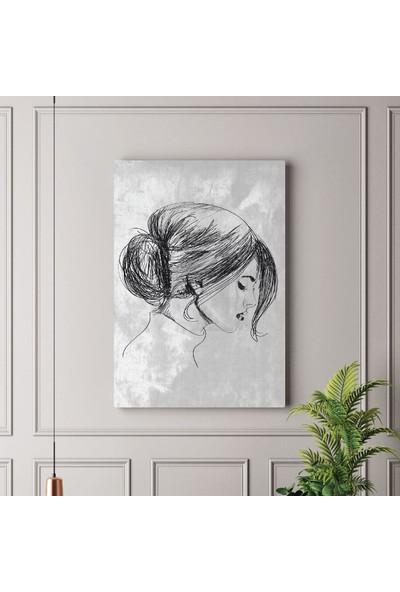Tabloonline Dijitalya | Kadın Çizimi Dekoratif Kanvas Tablo