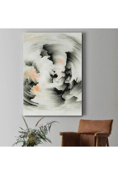 Tabloonline Dijitalya | Siyah Renkli Fırça Dekoratif Darbeleri Kanvas Tablo