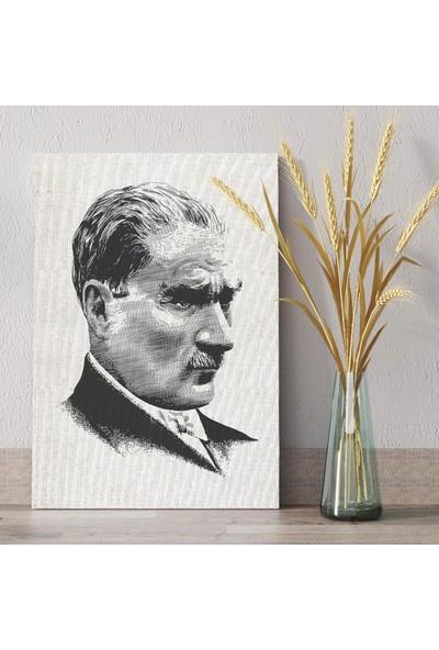 Tabloonline Dijitalya | Atatürk Siliüeti Dekoratif Kanvas Tablo