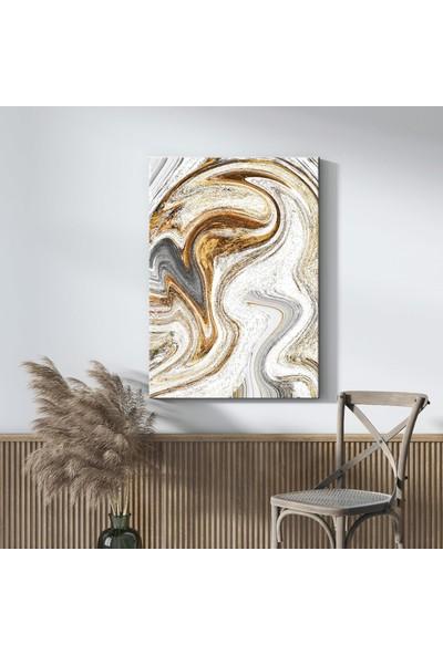Tabloonline Dijitalya | Gold Desen Dekoratif Kanvas Tablo