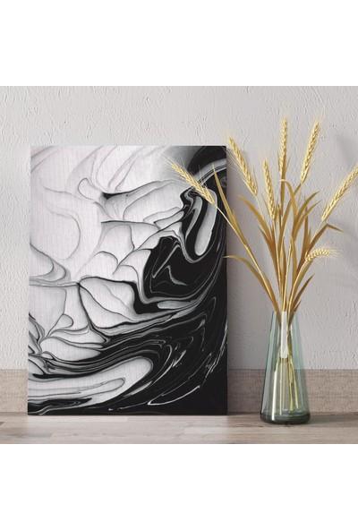 Tabloonline Dijitalya | Siyah Suluboya Dekoratif Kanvas Tablo
