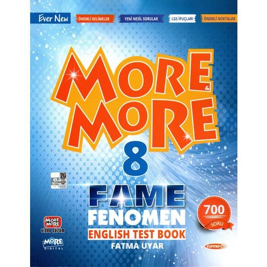 Kurmay Yayınları Kurmay Elt More And More 8. Sınıf Fame Fenomen English Test Book 2022