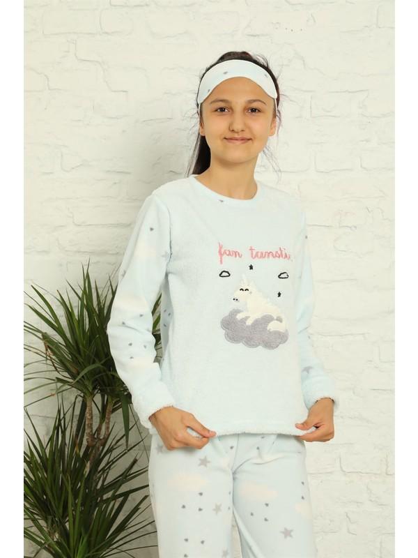 Akbeniz Welsoft Polar Kız Çocuk Pijama Takımı 4584
