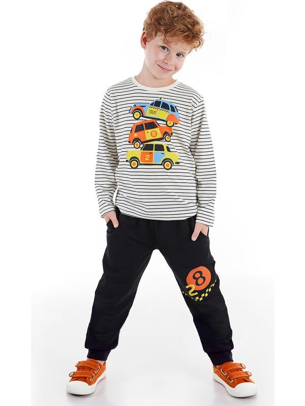 Denokids 28 Cars Erkek Çocuk Pantolon Takım