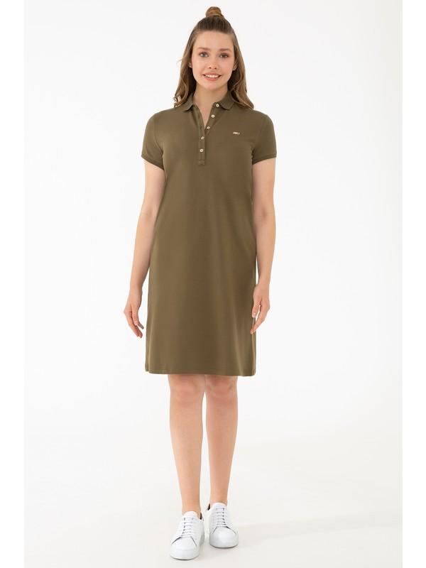U.S. Polo Assn. Yeşil Örme Elbise 50245198-VR111