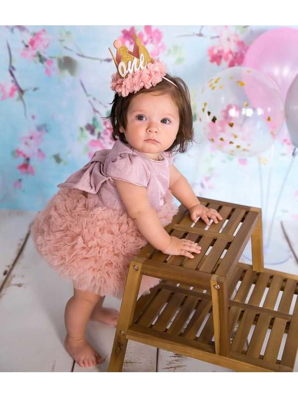 Le Mabelle Pudra Tütülü Bebek Prenses Elbise - Lina