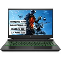 "HP Pavilion Gaming Laptop 15-EC2036NT Amd Ryzen 5 5600H 8GB 256GB SSD GTX1650 Freedos 15.6"" FHD Taşınabilir Bilgisayar 4G8U4EA"