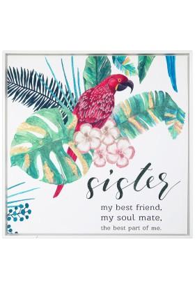 Le Atölye Papağan ve Yapraklar