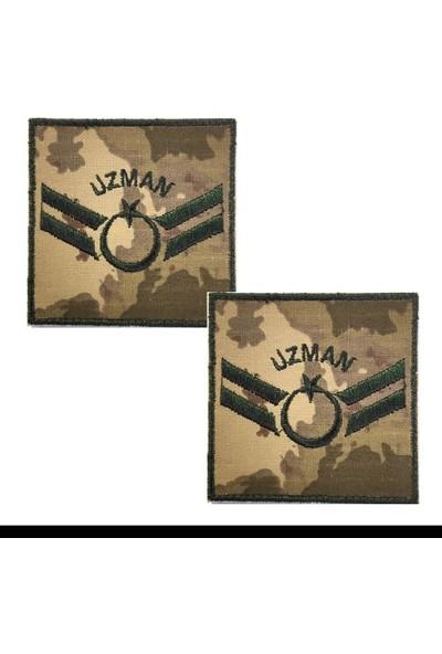 Seyhan Uzman Çavuş Kamuflaj Rütbe 9CMX9CM (Kara Kuvvetleri)