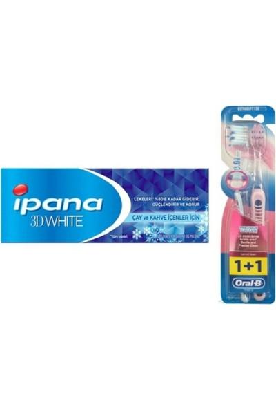 Ipana 3 Boyutlu Beyazlık Diş Macunu Anti Tobacco Glow Sigara Içenler 75 ml + Oral-B Hassas Diş Eti Bakımı