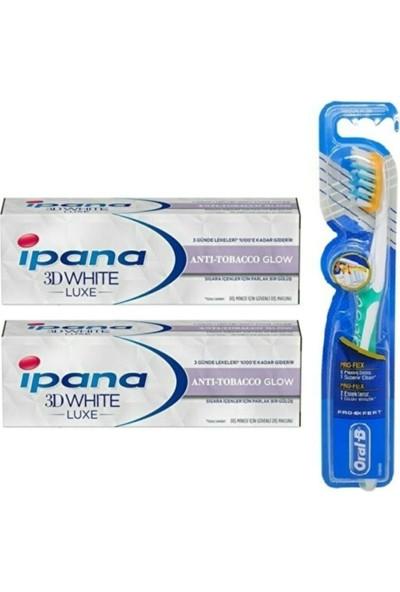 Ipana 3 Boyutlu Beyazlık Diş Macunu Anti Tobacco Glow 75 Ml+ Oral-B Diş Fırçası Pro-Flex 2+1