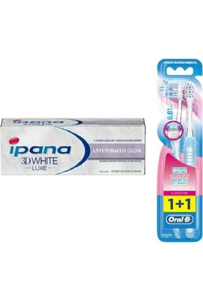 Ipana 3 Boyutlu Beyazlık Diş Macunu Anti Tobacco 75 ml Oral-B Diş Fırça Ultrathin Yumuşak 2'li