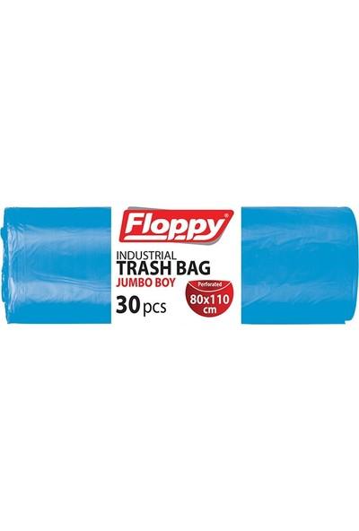 Floppy Endüstriyel Jumbo Mavi Çöp Torbası 1,2 kg 80 x 110 cm 30'lu x 6