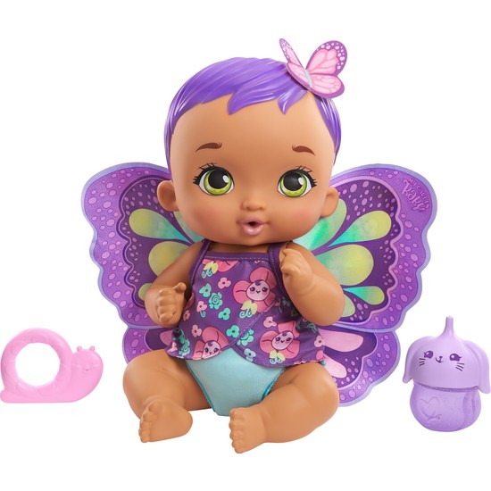 My Garden Baby Kelebek Bebeğimin Bakım Zamanı - Mor Saçlı Bebek (30 Cm)