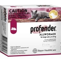 Bayer Profender 5 ve 8 kg Büyük Kediler Için Tek Uygulama Iç Parazit Damlası 2 Tüp