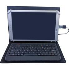 Wontis General Mobile E-Tab 10 10.1 Inç Üniversal Türkçe Q Klavyeli Tablet Kılıfı