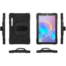 Fujimax Samsung Galaxy Tab A7 Lite 8.4 Inç 2021 T220 T225 T227 Zırh Özellikli Defender Askılı 360 Koruma Kılıf