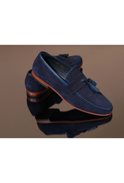 King West 1051 Hakiki Deri Erkek Klasik Ayakkabı - NKT01051-LACIVERT-42