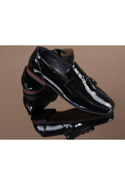 King West 1051 Hakiki Deri Erkek Klasik Ayakkabı - NKT01051-SIYAH-43