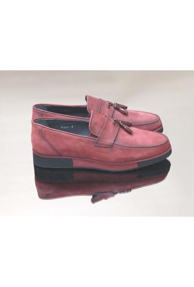 King West 1052 Hakiki Deri Erkek Ayakkabı - NKT01052-BORDO-43