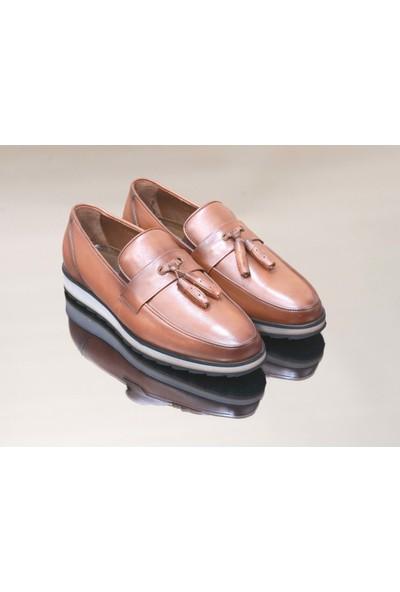 King West 1052 Hakiki Deri Erkek Ayakkabı - NKT01052-KAHVERENGI-39