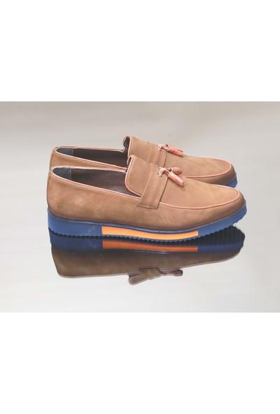 King West 1052 Hakiki Deri Erkek Ayakkabı - NKT01052-TABA-43