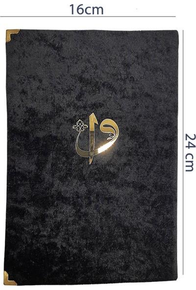 Haktan Dergi Boy Siyah Kadife Kaplı Fihristli Yasin Kitabı 128 Sayfa 10'lu