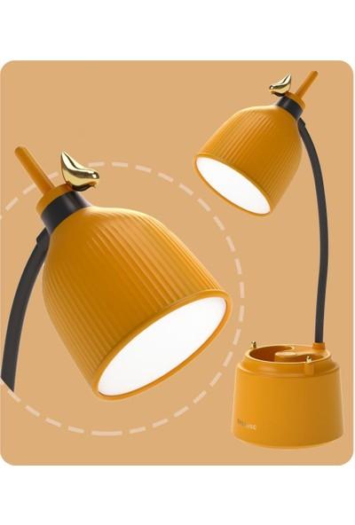 Orijinaldükkan Kalemlikli Lüx Şarjlı Gece Masa Lambası Lacivert Dokunmatik 3 Farklı LED Işıklı