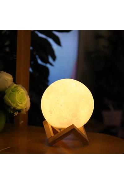 Orijinaldükkan 3D LED Işıklı Ayaklı Ay Gece Lambası 12 cm Moonlight Dolunay Aydınlatma