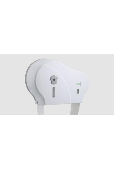 Vialli Dmj1 Double Mini Jumbo Tuvalet Kağıdı Dispenseri No-Stop- Beyaz