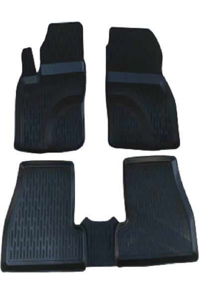 Tegin Nissan Juke 2010 3D Siyah Havuzlu Paspas