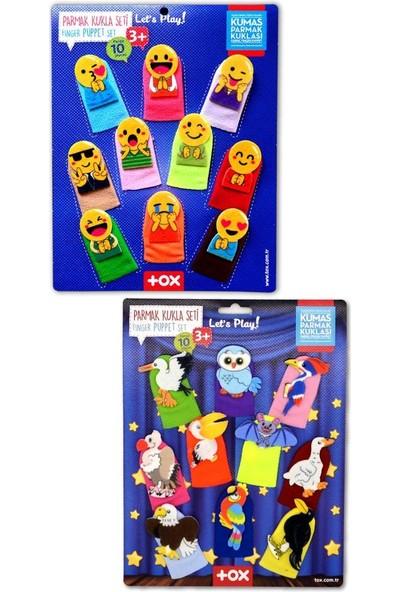 Tox 2 Set - 20 Parça Tox Emojiler ve Uçan Hayvanlar Parmak Kukla T106 T222