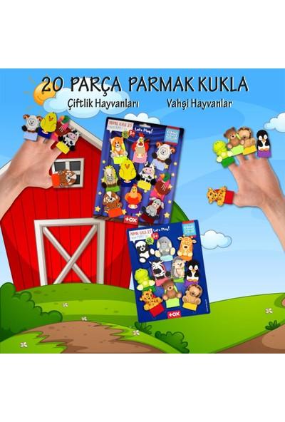 Tox 2 Set - 20 Parça Tox Vahşi ve Çiftik Hayvanlar Parmak Kukla T78-1 T220