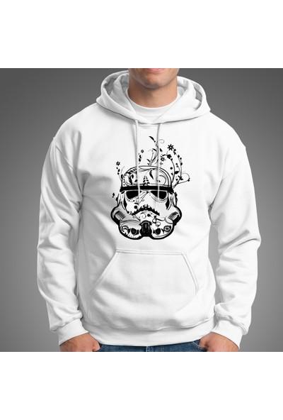 Grif Erkek Stormtrooper Baskılı Kapüşonlu Sweatshirt