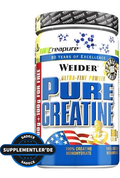 Weider Pure Creatine 600Gr Aromasız