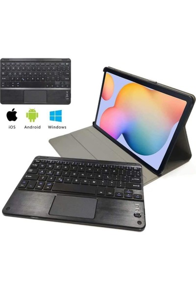 Nice Day Samsung Galaxy Tab S7 Uyumlu 11 Inç Ayrılabilir Kılıf + Touchpad Klavye + Kamera Gizlilik Kapağı + Stylus Kalem (Yurt Dışından)