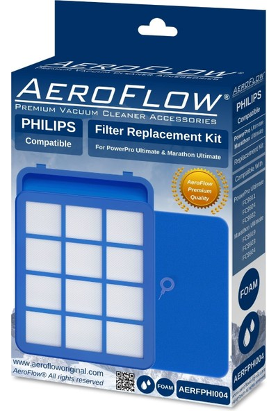 Aeroflow Philips FC9925 Uyumlu Marathon Ultimate Ön Filtre Seti