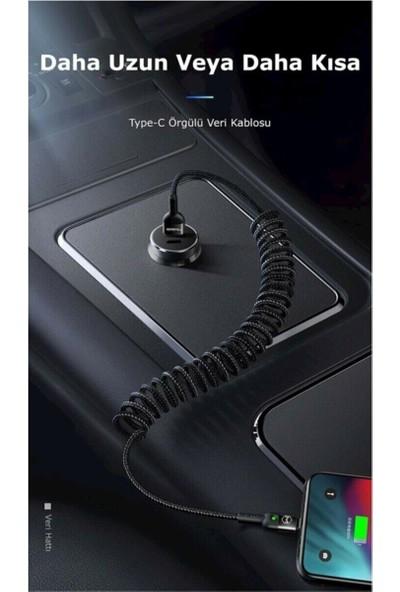 Mcdodo Type-C Elastik Araç Hızlı Şarj Kablosu Işıklı Qc4.0 CA-6420