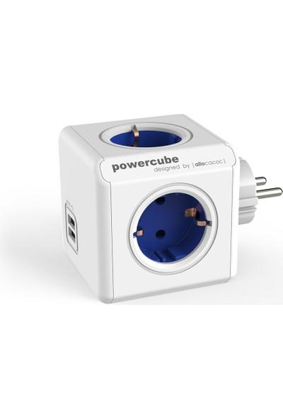 Power Cube 4'lü Priz + 2 USB Port Priz Çoklayıcı (Yurt Dışından)