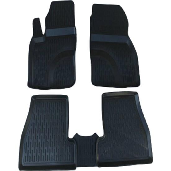 Tegin Nissan Juke 2014 3D Siyah Havuzlu Paspas