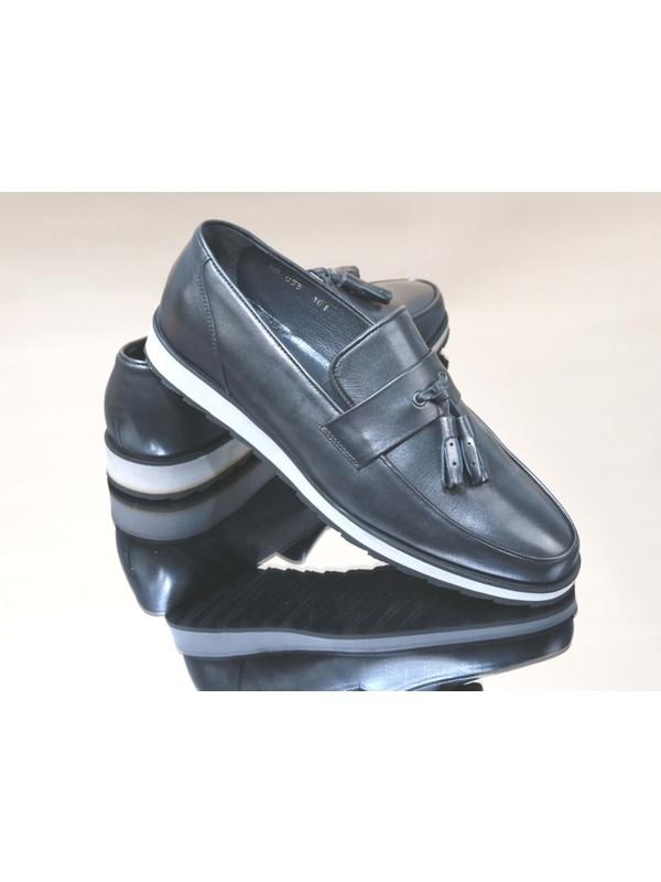 King West 1052 Hakiki Deri Erkek Ayakkabı - NKT01052-SIYAH-43